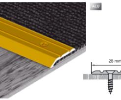 Profil de fixare a marginilor mochetei – Impresor VA01 auriu