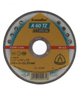 A 60 TZ Special – Discuri de debitare Kronenflex® pentru otel inoxidabil si otel