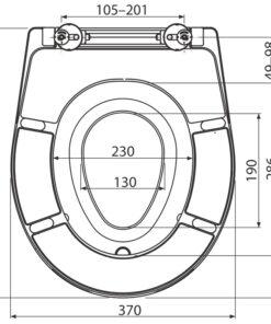 Capac WC universal Duroplast,cu adaptor pentru copii – A603