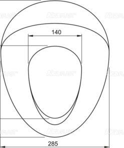 Capac WC adaptor, suport pentru copii A68