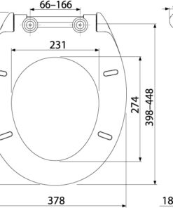 Capac WC SLIM SOFTCLOSE, Duroplast A64 SLIM