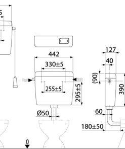 A94-3/8″ – Rezervor cu actionare simpla ALCA UNI START/STOP