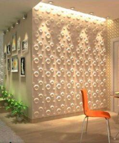 Panel Decorativ 3D, Model Spring , Culoare Nature, Dimensiuni 50 x 50 cm