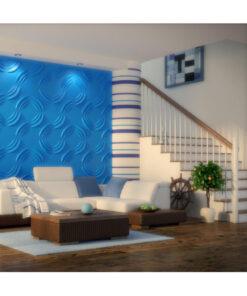 Panel Decorativ 3D, Model Rosw , Culoare Nature, Dimensiuni 50 x 50 cm