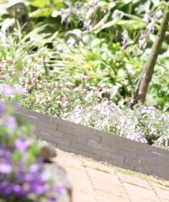 Gardulet decorativ ,StonePalisade , accesoriu pentru gradina , culoare Alb, lungime 2,37 m