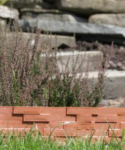 Gardulet decorativ ,StonePalisade , accesoriu pentru gradina , culoare Negru, lungime 2,37 m