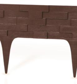 Gardulet decorativ ,StonePalisade , accesoriu pentru gradina , culoare Maro, lungime 2,37 m