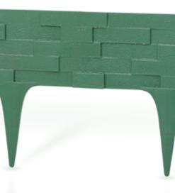Gardulet decorativ ,StonePalisade , accesoriu pentru gradina , culoare Verde , lungime 2,37 m