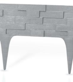 Gardulet decorativ ,StonePalisade , accesoriu pentru gradina , culoare Gri, lungime 2,37 m