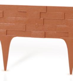 Gardulet decorativ ,StonePalisade , accesoriu pentru gradina , culoare Teracot, lungime 2,37 m