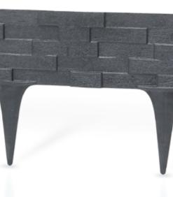 Gardulet decorativ ,StonePalisade , accesoriu pentru gradina , culoare Antracit (gri inchis), lungime 2,37 m