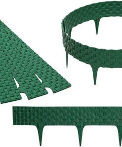 Gardulet decorativ ,RattanPalisade , accesoriu pentru gradina , culoare Verde , lungime 2,46 m