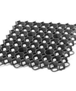 Pavele ecologice GardenPuzzle , pentru gazon ,culoare Negru ,Dimensiuni 492 mm x 492 mm x 39 mm