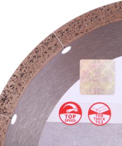 Disc diamantat Hard Ceramics Advanced 250mm 1A1R 250×1,5x10x25,4 , pentru gresie si tigla de portelan de grosimi mari