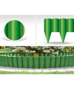 Bordura decorativa ,PalGarden , accesoriu pentru gradina , culoare Verde , lungime 2,5 m