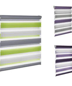 Rolete textile Mini Zebra ZTC (Day/Night ) 3 culori, Jaluzea tip rulou