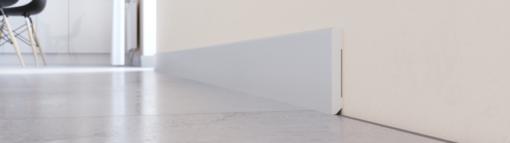 Plinta din Polimer Arbiton STIQ S0810, recomandata pentru gresie, culoare Gri deschis, Lungime 2.4m