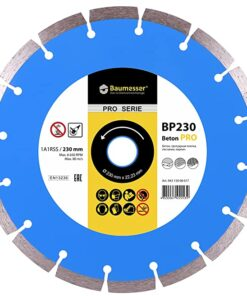 Disc diamantat Beton Pro, 230 x 2,6 x 22,2 mm pentru tăierea uscată a plăcilor de pavaj, cărămizi, beton, gresie