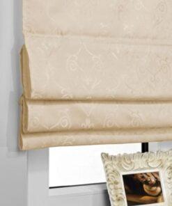 Rulouri textile Roman Blind Barocco, Rolete semi-opace, culoare Crem, dimensiuni panza 60cm x 140cm
