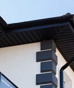 Profil margine J Vox S15 pentru lambriu exterior, PVC, 3.05 m