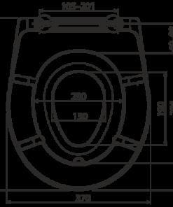 Capac wc universal AlcaPlast softclose cu insert A606 SLIM
