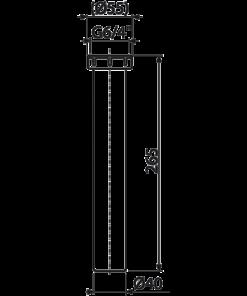 Distantier cu piulita de cuplare 6/4″ cu conector