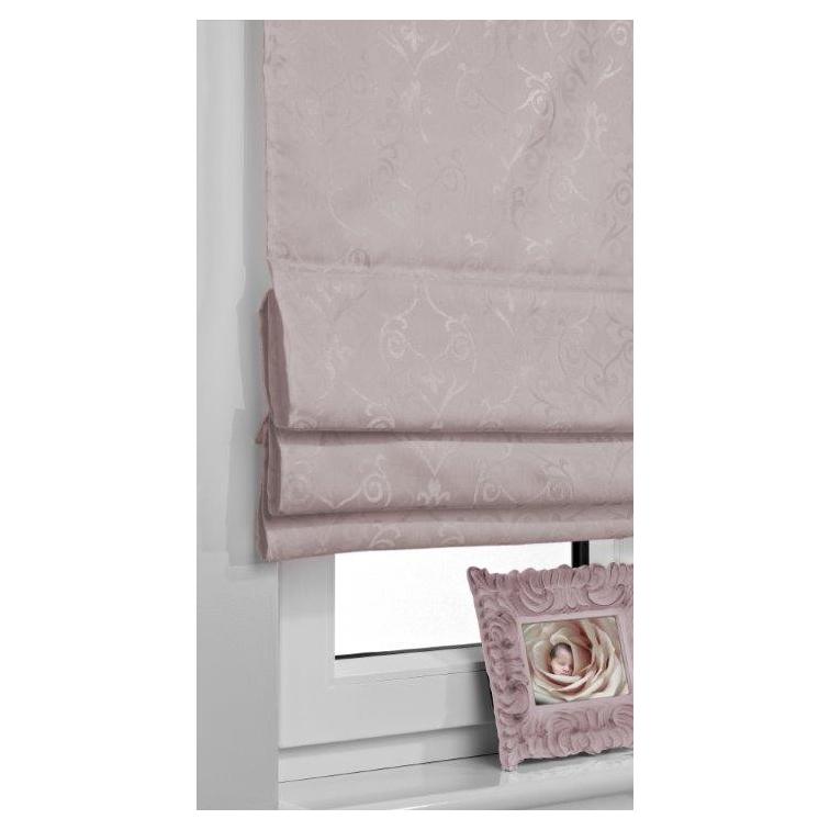 Rulouri textile Roman Blind Barocco Magic, Rolete semi-opace, culoare violet lucios , dimensiuni panza 60cm x 140cm