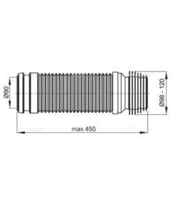 M9006 COT WC FLEXIBIL DN90/110