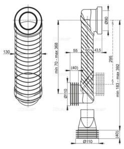 MS906 COT DE SCURGERE COMPLET DN90/110 PENTRU REZERVOR SLIM